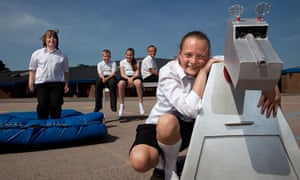 Looking ahead: year 6 pupils from St Saviour's school in Westgate-on-Sea, Kent