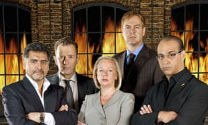 Peter Jones (second from right) in the Dragons' Den: entrepreneurship can be taught, he says