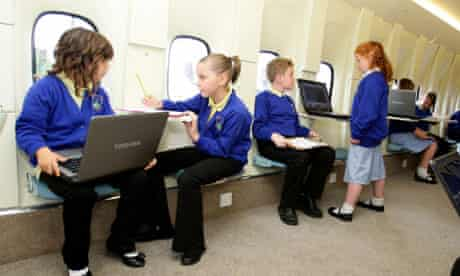 Kingsland primary school in Stoke on Trent, which has an aeroplane for a classroom