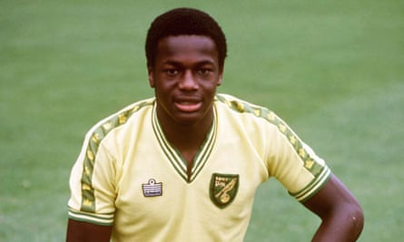Justin Fashanu when he played for Norwich City