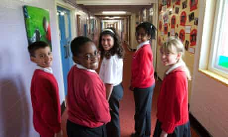 Year 6 pupils at Cuckoo Hall Academy, Lower Edmonton, London