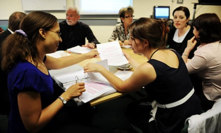 Teachers doing a master's course; many master's students are ineligible for funding