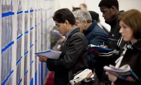 Jobseekers at recruitment fair
