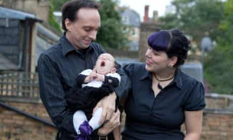 Goths Louise Nickerson and Bob Rosenberg with their baby