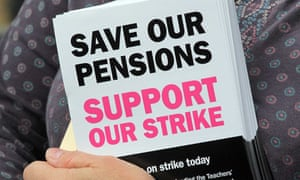 At stake: teachers' pensions