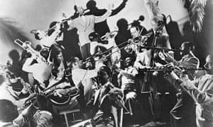Duke Ellington leading his band in the 1930s