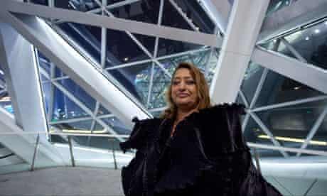 Architect Zaha Hadid at her Guangzhou Opera House