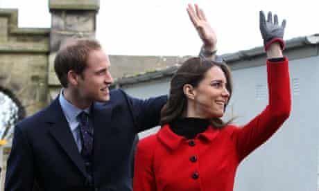 Prince William and Kate Middleton on a visit to the University of St Andrews