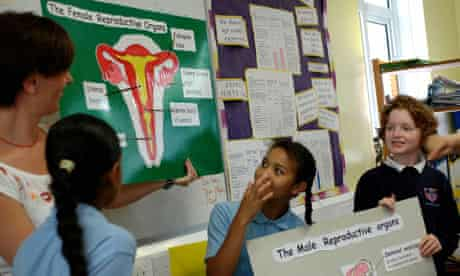 A year 6 sex education class in Lambeth