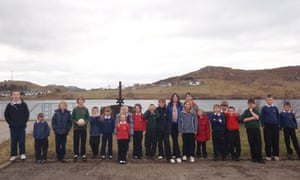 Kinlochbervie primary in happier times, when it boasted more than 20 pupils