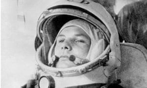 Russian cosmonaut Yuri Gagarin pictured on 12 April 1961