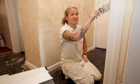 Apprentice painter and decorator Kerry Isom likes the work for its creativity