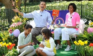 The Obamas take part in the traditional White House Easter egg roll