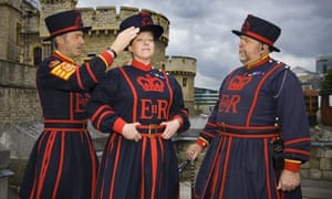The first female Beefeater, Moira Cameron
