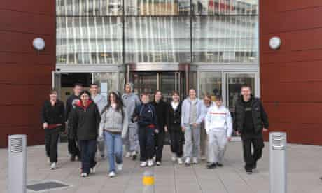 Young people visit Salford University. Widening participation may be hit by the proposed reforms