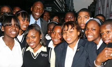Geoffrey Canada and Harlem Childrens' Zone students