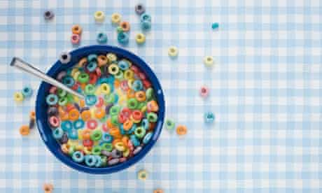 Brightly coloured cereals; researchers have patented a way to make them change colour
