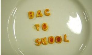 Back to School in Alphabetti Spaghetti