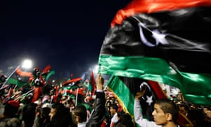 Celebrations in Libya a year since the start of the uprising .
