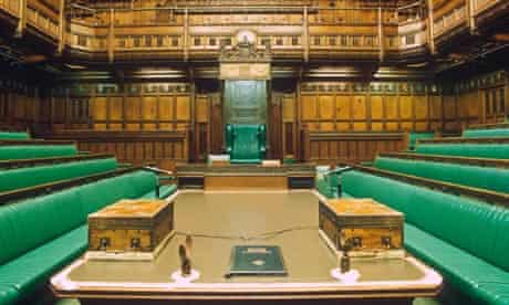 Interior of the House of Commons.