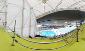 The Aquatics Centre is part of the gateway to the Olympic Park. Designed by architect Zaha Hadid