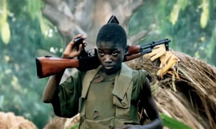 A still showing a child soldier from the Kony 2012 video launched by the charity Invisible Children