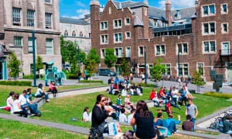 Mcgill University campus downtown Montreal