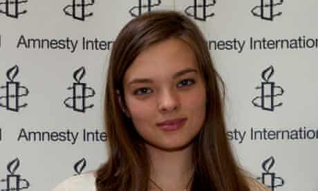 Alice Woodhouse, sixth-form winner of the Young Human Rights Reporter of the Year competition