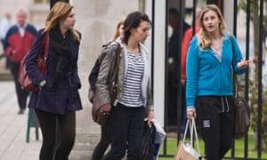 Students at the University of Wales Cardiff UK