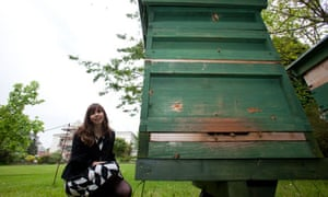 Kat Thorne, head of sustainability at Greenwich University, which has sold honey from its beehives