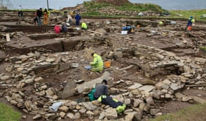 Orkney, archaeological excavation