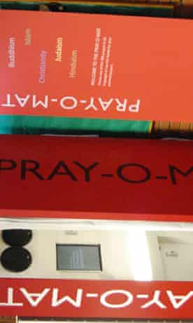 pray-o-mat praying booth at manchester uni