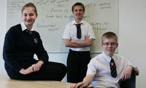Ellie, Lewis and Cameron - no longer 'nobodies' now they are in year 8 at King Ethelbert school