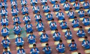 Chinese pupils recite rules for being a good child