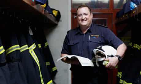 Senior firefighter Dan Tasker