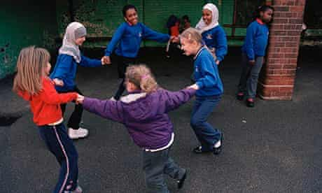 pupils playing in playground