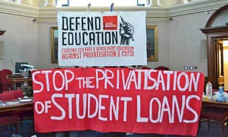 privatisation of student loans protest