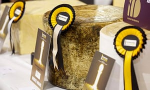 Winning cheeses at the annual Nantwich Cheese Awards in Cheshire, the world's largest cheese show