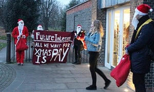 christmas intern protest outside serpentine gallery
