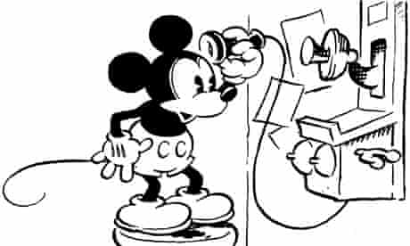 mickey mouse on the telephone