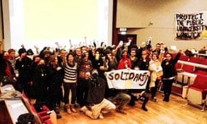 Warwick occupy protest