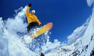 '… and the third generation goes snowboarding'
