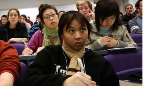 Students taking notes at a University of Hatfield