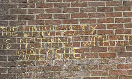 The writing is on the wall at the University of Sussex