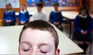 Meditating at school, where mindfulness has become something of a buzz word