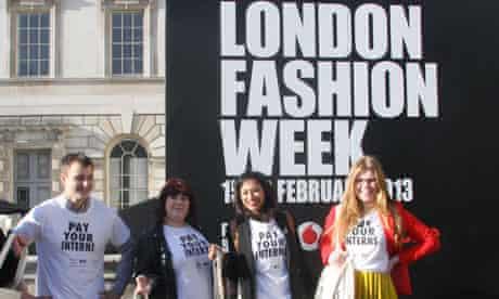 London Fashion Week Intern protest pay your interns