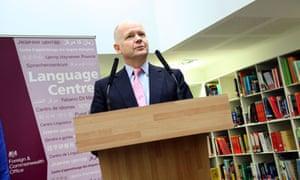 william hague opens fco language centre