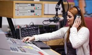 female student radio mixing