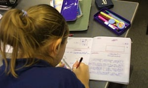 Pupil studying maths; experts fear changes to A-level may put off many potential students