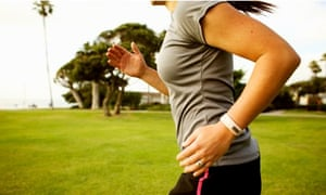 female student jogger